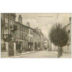 carte postale ancienne 57 DIEUZE. Rue Clémenceau 1919