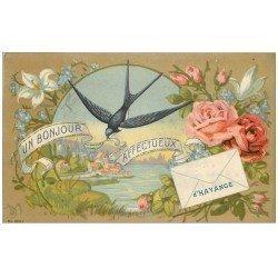 carte postale ancienne 57 HAYANGE HAYINGEN. Hirondelle et lettre 1919