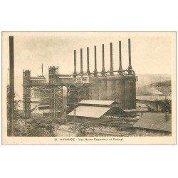 carte postale ancienne 57 HAYANGE HAYINGEN. Les Hauts-Fourneaux et Patural 1936
