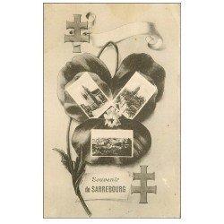 carte postale ancienne 57 SARREBOURG. Souvenir Croix de Lorraine 1919