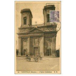 carte postale ancienne 57 THIONVILLE. L'Eglise 1939