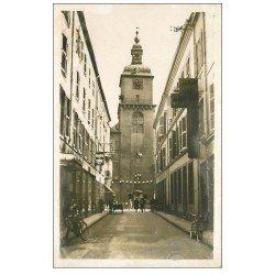 carte postale ancienne 57 THIONVILLE. Tour Hôtel de Ville. Carte Photo émaillographie