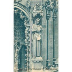 carte postale ancienne 57 METZ. Cathédrale Portail Prophète Guillaume II