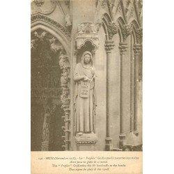 carte postale ancienne 57 METZ. Cathédrale Portail Prophète Guillaume II menottes aux mains