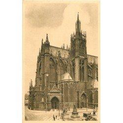 carte postale ancienne 57 METZ. Cathédrale Place d'Armes