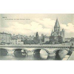 carte postale ancienne 57 METZ. Eglise Réformée. Neue Protest Kirche