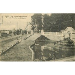 carte postale ancienne 57 METZ. Esplanade Nouvelles Fontaines 1912