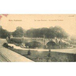 carte postale ancienne 57 METZ. Esplanade Nouvelle Fontaine 1909