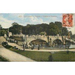 carte postale ancienne 57 METZ. Esplanade Fontaines 1912