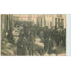 carte postale ancienne 58 CHATEAU-CHINON. La Foire aux Porcs