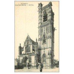 carte postale ancienne 58 CLAMECY. Eglise Saint-Martin