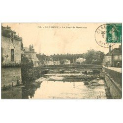 carte postale ancienne 58 CLAMECY. Le Pont de Beuvron 1910