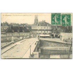 carte postale ancienne 58 CLAMECY. Pont Jean Rouvet 1916