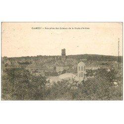 carte postale ancienne 58 CLAMECY. Vue des Coteaux de la Route d'Armes 1934
