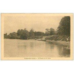 carte postale ancienne 58 COSNE-SUR-LOIRE. Bords de la Loire