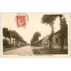 carte postale ancienne 58 COSNE-SUR-LOIRE. La Caserne Route de Nevers 1935