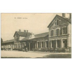 carte postale ancienne 58 COSNE-SUR-LOIRE. La Gare