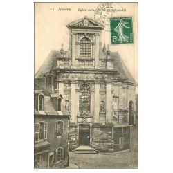 carte postale ancienne 58 NEVERS. Eglise Saint-Pierre 1908