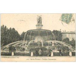 carte postale ancienne 13 AIX-EN-PROVENCE. Fontaine Monumentale 1906