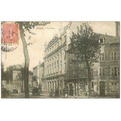 carte postale ancienne 58 NEVERS. La Poste 1904 avec Facteurs devant les Bains