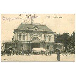 carte postale ancienne 58 NEVERS. Le Marché Carnot 1914