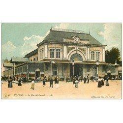 carte postale ancienne 58 NEVERS. Le Marché Carnot. Tampon Hôpital Militaire 1915
