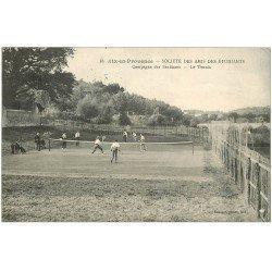 carte postale ancienne 13 AIX-EN-PROVENCE. Le Tennis. Société des Amis des Etudiants 1922