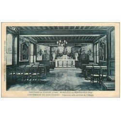 carte postale ancienne 60 BEAULIEU-LES-FONTAINES. Château de Jeanne d'Arc. Sanctuaire