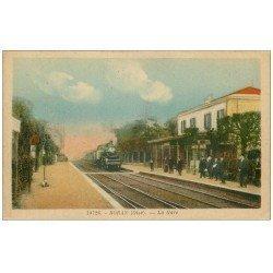 carte postale ancienne 60 BORAN. La Gare 1946