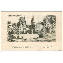 carte postale ancienne 60 BRESLES. Ancien Château