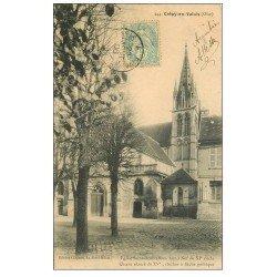 carte postale ancienne 60 CREPY-EN-VALOIS. Eglise Saint-Denis 1906