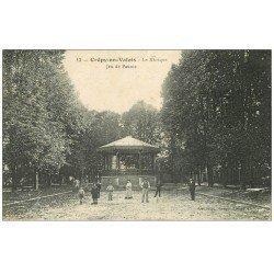 carte postale ancienne 60 CREPY-EN-VALOIS. Kiosque à Musique Jeu de Paume 1916
