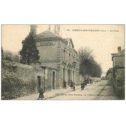 carte postale ancienne 60 CREPY-EN-VALOIS. La Poste et Télégraphes