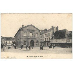 carte postale ancienne 60 MERU. Hôtel de Ville 1917 Pâtisserie Cortesi et Epicerie Buvette