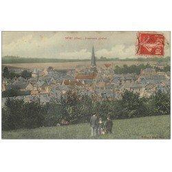 carte postale ancienne 60 MERU. Panorama 1908 avec Promeneurs