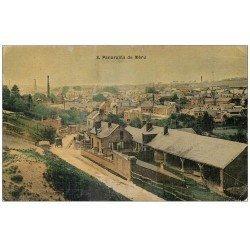 carte postale ancienne 60 MERU. Panorama 1909. Superbe carte toilée
