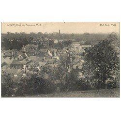 carte postale ancienne 60 MERU. Panorama Nord 1916