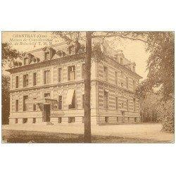 carte postale ancienne CHANTILLY 60. Maison de Convalescence Rotschild 1927