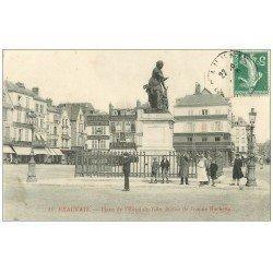 carte postale ancienne Superbe Lot 10 Cpa BEAUVAIS 60. Place Hôtel de Ville, La Gare, Rue Manufacture, Jeu de Paume etc...