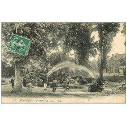 carte postale ancienne Superbe Lot 10 Cpa BEAUVAIS 60. Square de la Gare, Thérain Faubourg Saint-Jacques et Tour Boileau, etc...