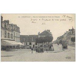 Superbe Lot 10 Cpa CHANTILLY 60. Rue Connétable Place de l'Hôpital, Maison Sylvie, Gemmes, Meute Chiens Chasse à Courre