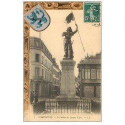 carte postale ancienne Superbe Lot 10 Cpa COMPIEGNE 60. Statue Jeanne d'Arc, Pont et Rue Solférino, Palais, Château etc...