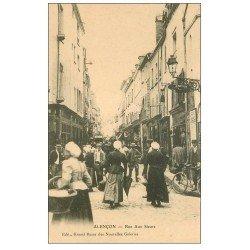 carte postale ancienne 61 ALENCON. Coiffeur Rue aux Sieurs