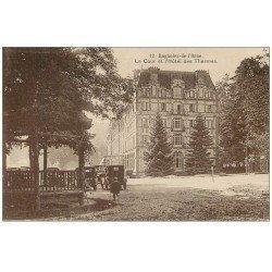61 BAGNOLES-DE-L'ORNE. Cour Hôtel Thermes. Carte expédiée Banque Française de Syrie à Beyrouth République Libanaise 1933