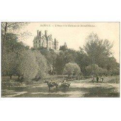 carte postale ancienne 61 BATILLY. Le Château Mesnil-Glaise 1906 animation