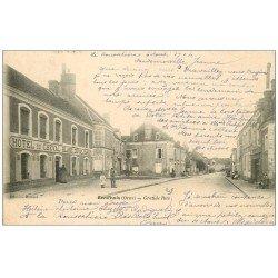 carte postale ancienne 61 BERD'HUIS. Grande Rue 1904 Hôtel du Cheval Blanc
