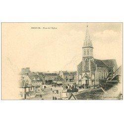 carte postale ancienne 61 BRIOUZE. Place de l'Eglise