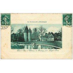 carte postale ancienne 61 CHATEAU DE SOUCHEY. Pièce d'Eau 1910