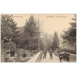 carte postale ancienne 61 DOMFRONT. Lot 10 Cpa. Entrée Château, Rue Palais Justice, Rempart, Donjon etc...