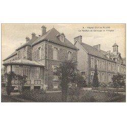 carte postale ancienne 61 FLERS. Hôpital Civil Pavillon Chirurgie